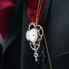 34 Steampunk Wedding Men Accessories | HappyWedd.com