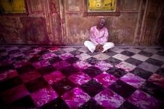 Hindu devotees have painted much of the town of Vrindavan -- and themselves -- red on March 21. The town, in Uttar Pradesh, India, is one of the cultural and religious centers of Hinduism and the site where one of the central figures of the religion, Krishna, grew up, according to tradition. (Majid Saeedi/Getty Images