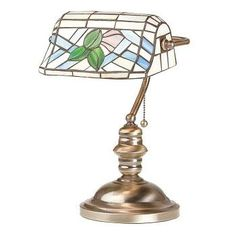 """Table #Lamp Antique Brass #Tiffany #Style Stained Glass 14""""H # 20778 Shop --> http://www.rensup.com/Table-Lamps/Table-Lamps-Antique-Brass-Tiffany-Style-14-H-9-1-by-2-W-7-inch-base/pd/20778.htm?CFID=2637774&CFTOKEN=f4873a85f8a007c8-FEA26157-B9A2-0D4D-453227B9EC730E20"""