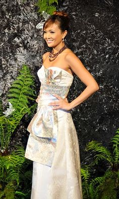 Anne Namba kimono-inspired wedding dress.