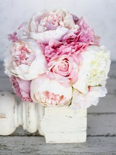 Shabby Chic Wedding bouquet de pivoines