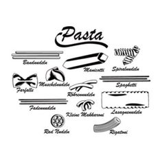 "Style and Apply Pasta Wall Decal Size: 12"" H x 46"" W, Color: White"