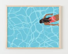 Fine Art Print.  Woman Swimming Underwater in Pool.  May 24, 2016.