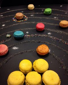 provocative-planet-pics-please.tumblr.com Work project part X : macaron solar system #macarons #work #solarsystem #planets #orbits #sun #earth #moon #ilovemyjob #food #space #foodporn #macaronstagram #glitter #trytherainbow #art #ornot by aurelie_ig https://www.instagram.com/p/BE-6hwsSDui/