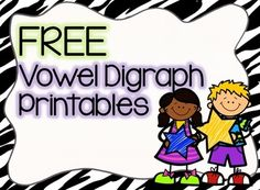 FREE NO PREP Vowel Digraphs Printables - 7 sheets perfect for helping your students with vowel digraphs. Reading Intervention, Reading Skills, Reading Resources, Teacher Resources, Teaching Ideas, Phonics Reading, Teaching Reading, Learning Phonics, Saxon Phonics