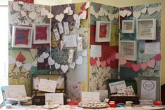Wedding Fair Stand at Reigate Hill Golf Club, save the date magnets, Favour badges and mirrors, Liberty prints, postcards, hearts, bunting 4...