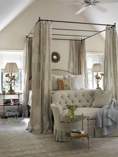 Gorgeous master bedroom in neutrals