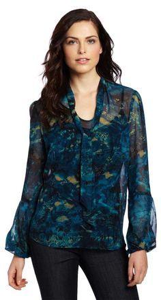 e9755bb920784c  roressclothes closet ideas women fashion outfit clothing style apparel  Anne Klein Bow Blouse Anne Klein
