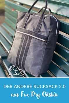 Rucksack nähen - Freebook The other backpack - version sew on Fox Dry Oilskin with a complete ma Weekender, Sewing Tutorials, Sewing Crafts, Diy Mode, Shopper, Diy Fashion, Drawstring Backpack, Gym Bag, Backpacks