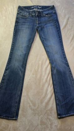 Womens American Eagle Artist Boot Cut Stretch Jeans Sz 2 Long #AmericanEagleOutfitters #BootCut