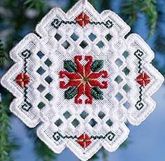 Hardanger Wintertide - there are others on the Kreinik website