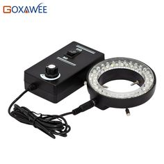 GOXAWEE Verstelbare LED Ring Light Illuminator Lamp Voor Industrie STEREO ZOOM Microscoop 60000LM 6500 K Microscoop LED Ring