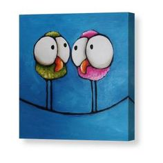 The odd guy Canvas Print / Canvas Art by Lucia Stewart Canvas Art, Canvas Prints, Art Prints, Bird Pillow, Whimsical Art, Bird Art, Doodle Art, Painting Inspiration, Cute Art