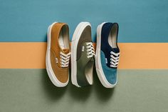 As an extension to the SK8-Hi collection, Vans Vault delivers three new colorways to their OG Authentic LX shoe which is available now.