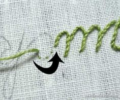 Hand Embroidery: Lettering and Text 4: Stem Stitch – Needle'nThread.com