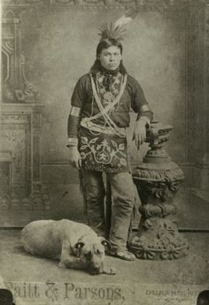 Winnebago Indian Portrait with Dog | Photograph | Wisconsin ...