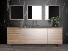 Antalya Yemek Odası Credenza, Double Vanity, Diy Home Decor, Dining Room, Antalya, Bathroom, Table, Modern, Furniture