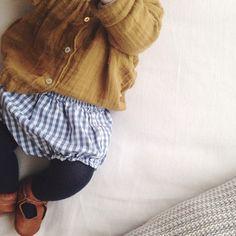kids style, gingham, mustard | petitsweet