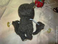Мастер-класс по пуговичному креплению лап мишек Тедди и других игрушек - Ярмарка Мастеров - ручная работа, handmade