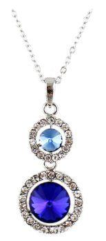 Royal Blue Drop Style Gemstone Necklace