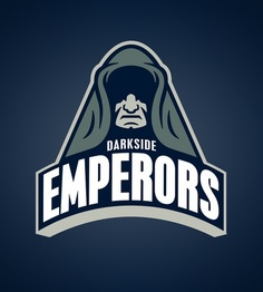 Star Wars Sports Team Logos /// Darkside Emperors /// by WanderingBert / David Creighton-Pester (via Star Wars Logos, T-shirt Star Wars, Starwars, Darkside, Sports Team Logos, Sports Teams, Sports Betting, Star Wars Personajes, Team T Shirts