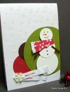 papierscrapetc: Une carte avec un bonhomme de neige pour les voeux.