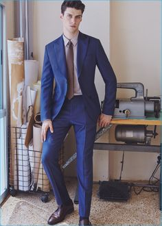 Matthew Bell is a smart vision in fall-winter 2016 tailoring from Mango Man.