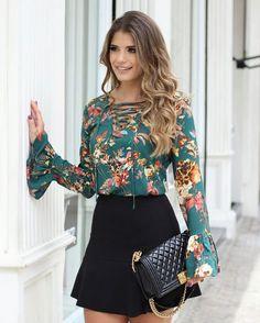 "terriserenity: ""Isn't this outfit so cute! Skirt Outfits, Fall Outfits, Casual Outfits, Cute Outfits, New Fashion, Autumn Fashion, Womens Fashion, Moda Chic, Blouse Styles"