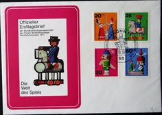 Stamp: Old Wooden Toys (Berlin) (Welfare: Old Wooden Toys) Mi:DE-BE FDC412-415