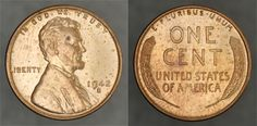1 -- 1942-S Lincoln 1c – Choice Brilliant Uncirculated Red: The 1942-S is a relative sleeper, semi-key in the Lincoln Cent series. Retail price guides value this above every other regular date and mintmark in the 1940s and 1950s, as well as some of the later dates in the 1930s. Full, original mint luster, with some small carbon spots, primarily on the obverse.