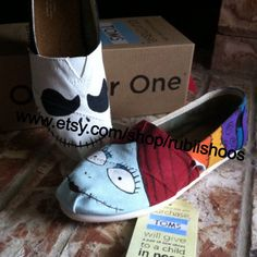 Hey, I found this really awesome Etsy listing at https://www.etsy.com/listing/178229445/womens-toms-jack-and-sally-shoes
