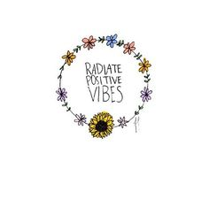 Radiate positive vibes! (I love the flower thing) tumblr transparents