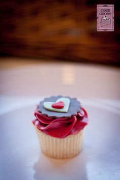 Mini Valentine's Day Cupcake by Caked Goods.  Valentine's Cupcakes Series Photography by With Grace Photography.