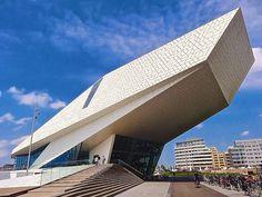 EYE Film Institute, Delugan Meissl Architects, Amsterdam #camilakleinarquiteta #deluganmeissl #inspiração #building #architecture #arquitetura