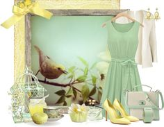 """""""Birds and blooms"""" by madamedeveria ❤ liked on Polyvore"""