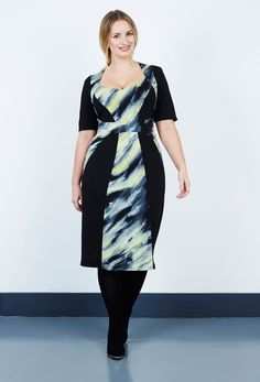 d813de6aa9b Marble Jersey Panel Dress from Anna Scholz plus size dress collections  online. Buy women s fashion clothing in sizes 28