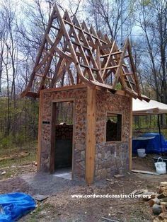 Isaac Haumesser's cordwood creation in Missouri.  It is now residing on www.facebook.com/cordwoodconstruction