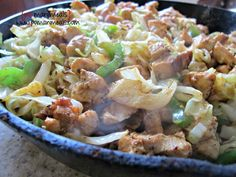 chicken and cabbage stir-fry skillet on http://www.pomanmeals.com