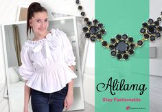 This cinched blouse is just adorable for a brunch or even for work.  Add some great Alilang vintage jewelry and pull it all together.   You can win a gift card up to $250.00 for Alilang just by entering your favorite outfit or picture at http://modera.co/profiles/Alilang