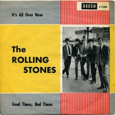 The Rolling Stones, 'It's All Over Now' - single cover art, 1964.