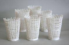 woven bottlelattice jarwoven bottlenestpod All work is property of the artist, subject to copyright. Slab Pottery, Ceramic Pottery, Pottery Art, Ceramic Art, Pottery Videos, Ceramic Techniques, Pottery Classes, Paperclay, 3d Prints