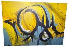 Eine abstrakte Handgemalte Leinwand :)