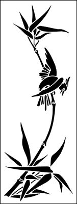 Bird & Bamboo stencil from The Stencil Library online catalogue. Buy stencils online. Stencil code JA123.