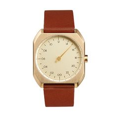 Slow Mo 07 Gold/Brown Leather | Clockwize Watch Shop