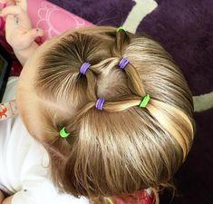 Frisuren für kleine Mädchen mit Haargummi einfache Ideen