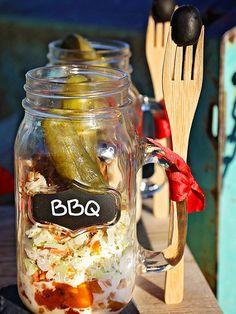 Layered BBQ Jar
