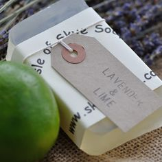 A modern twist on traditional lavender, a pinch of zingy lime, an excellentall round bar of soap, loved by grannies and children alike.
