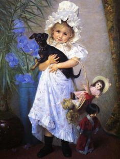 """""""The Favorite"""" -- by Francine Charderon (1861 – 1928, French)"""