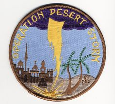 Operation Desert Storm patch. Operation Desert Storm, popularly known as the first Gulf War, was the successful U.S.-Allied response to Iraq's attempt to overwhelm neighboring Kuwait. Kuwait's liberation in 1991 brought to the battlefield a new era of military technology. Nearly all battles were aerial and ground combat within Iraq, Kuwait, and outlying areas of Saudi Arabia. (V)