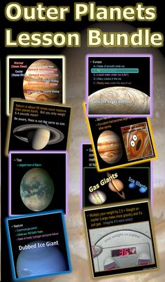 This is a 650+ slide PowerPoint presentation about the outer planets, Jupiter, Saturn, Uranus, and Neptune. Each planet is discussed as well as their exciting moons. Fantastic visuals and built-ins make this lesson bundle a must. -Enjoy! Science from Murf LLC